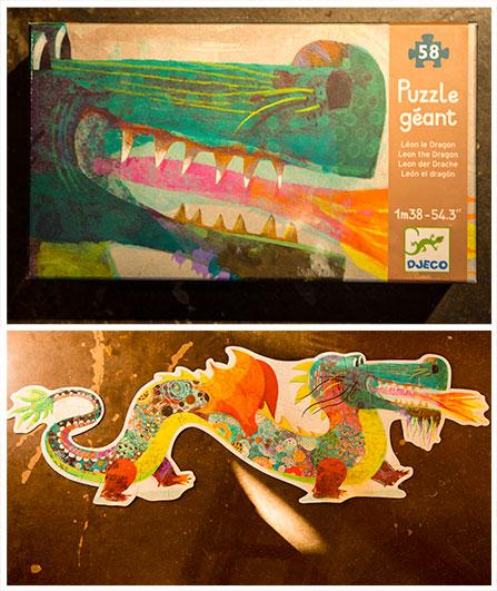Children's dragon puzzle by Djeco