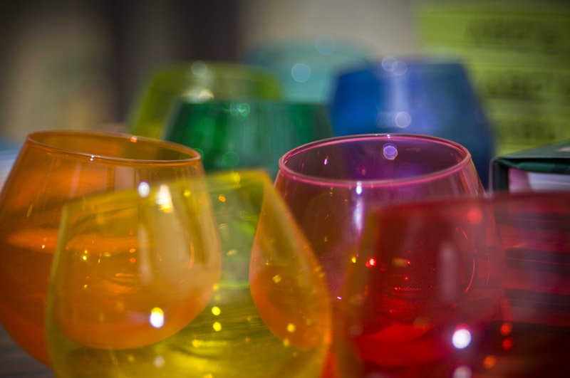 jewel toned glass vases