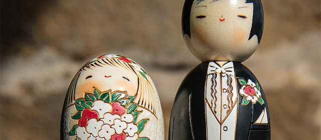 Wedding Kokeshi Dolls