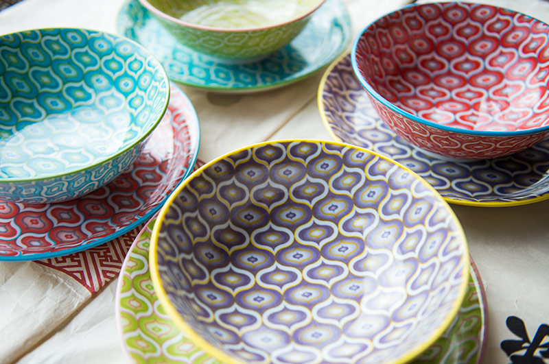 Miya Company's Lantern Design Series Dishes