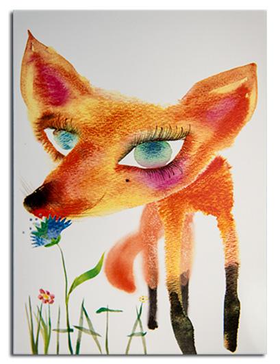 Fun fox illustration by Masha Dyan.