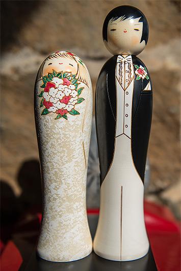 Kokeshi Wedding couple